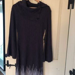 Connected winter sweater dress